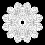 Barwić stronę z elegancki lacery zentanle mandala Fotografia Stock
