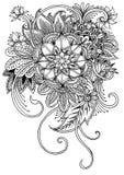 Barwić stronę z kwiatami i liśćmi Fotografia Stock