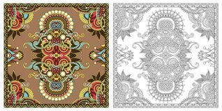 Barwić strony, kolorystyki książka dla dorosłych, autentyczny dywanowy desig ilustracji