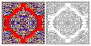 Barwić strony, kolorystyki książka dla dorosłych, autentyczny dywanowy desig royalty ilustracja