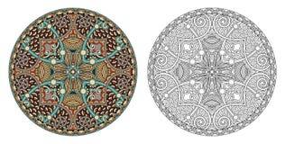 Barwić strony, kolorystyki książka dla dorosłych, autentyczny dywanowy desig ilustracja wektor