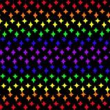 Barwić tęczy szpilki gwiazdy royalty ilustracja