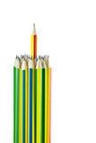 barwił wiele ołówki obraz stock