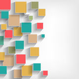 barwi akwarele farby papieru kwadratów tekstury akwarele biały Fotografia Stock