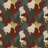 Barwi bezszwowego abstrakcjonistycznego pociągany ręcznie wzór, fala tło ilustracji