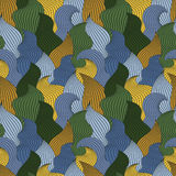 Barwi bezszwowego abstrakcjonistycznego pociągany ręcznie wzór, fala tło royalty ilustracja
