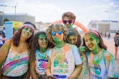 Barwi bieg, Lido Di Camaiore, Włochy Zdjęcia Stock
