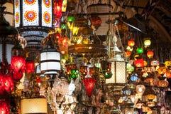 Barwiąca i jaskrawa lampa Zdjęcia Royalty Free
