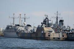 barwi ciemnych grafika wojskowego statki obrazy stock