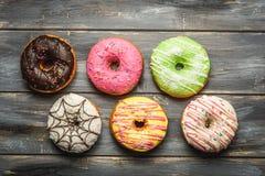 Barwiący asortyment donuts Obrazy Stock