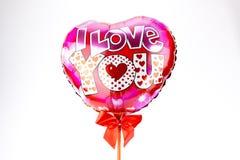 Barwiący serce balony Obrazy Royalty Free