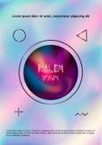 Barwi dymnego spływania inside okrąg na vaporwave lekkiego koloru tle, projekt dla plakata, ulotka Fotografia Stock