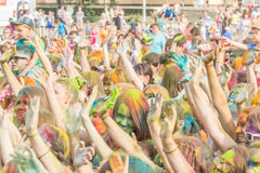 barwi festiwalu holi farby Zdjęcie Royalty Free