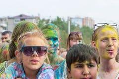 barwi festiwalu holi farby Zdjęcia Royalty Free