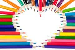 barwi kierowych ołówki Zdjęcie Stock