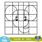 Barwi kropkami, gra dla dzieci, słoń royalty ilustracja