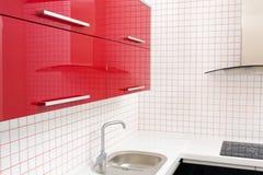 barwi kuchennego czerwonego biel Zdjęcie Stock