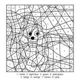 Barwi liczbą, edukaci gra z psem Fotografia Stock