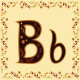 Barwi listowego b Łaciński abecadło z jaskrawym deseniowym Khokh ilustracji