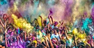 barwi muzykę Zdjęcie Stock