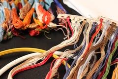 Barwić nici dla broderii Obrazy Royalty Free