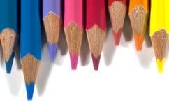 Barwi ołówki Fotografia Stock
