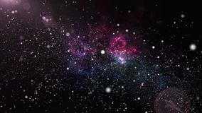Barwi odmienianie mgławicę z jaśnienie gwiazdy światła stardust w astronautycznym wszechświacie i galaxy