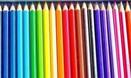 Barwi ołówek Fotografia Stock