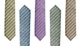 barwi różnych pięć ustalonych krawatów Zdjęcia Royalty Free