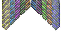 barwi różnych pięć ustalonych krawatów Obraz Royalty Free