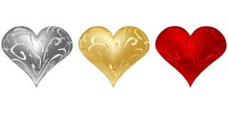 barwi serca różnego valentine s Obraz Royalty Free