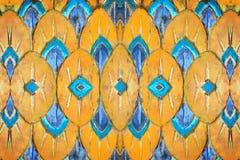 Barwi wzór rzeźbiącego drewno, abstrakcjonistyczna rodzima sztuki tekstura Obraz Royalty Free