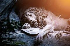 Barwiarski lwa zabytek lucerna, Szwajcaria Zdjęcie Stock