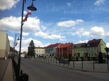 Barwice, Polen Hoofdstadsvierkant Stock Fotografie