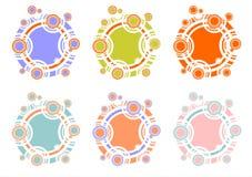 barwili wielo- okręgów ilustracji