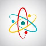 Barwiona atom ikona również zwrócić corel ilustracji wektora Fotografia Royalty Free