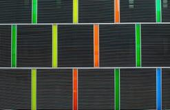 Barwiona budynek powierzchowność Zdjęcia Stock