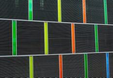 Barwiona budynek powierzchowność Obrazy Royalty Free