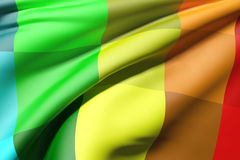 barwiona flagę Obrazy Stock