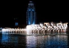 barwiona fontanny noc woda Zdjęcie Stock