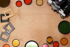 Barwiona fotografia filtruje, kamera i obruszenia Obraz Royalty Free