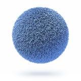 Barwiona futerkowa dywanowa piłka Zdjęcie Stock