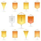 Barwiona ikony kolekcja banderka Zdjęcia Stock