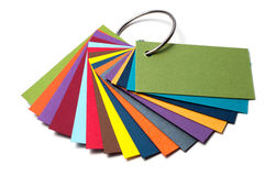 Barwiona kartonowa paleta, koloru przewdonik, papier próbki, koloru katalog Obrazy Royalty Free