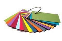 Barwiona kartonowa paleta, koloru przewdonik, papier próbki, koloru katalog Obraz Stock