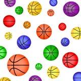 Barwiona koszykówki piłka Zdjęcia Royalty Free