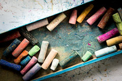 Barwiona kreda, papierowa sztuka fotografia stock