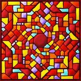 Barwiona kwadratowa witraż mozaika Fotografia Royalty Free