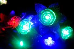Barwiona kwiat girlanda Zdjęcie Stock