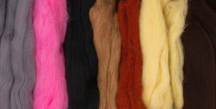 barwiona wełna zdjęcie stock